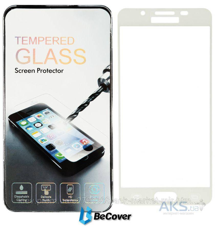 Защитное стекло Samsung A510 Galaxy A5 2016|BeCover|Белый|На весь экран