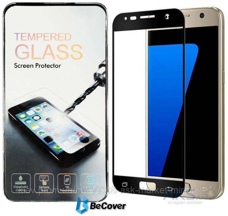 Защитное стекло Samsung G930 Galaxy S7|BeCover|Черный|На весь экран