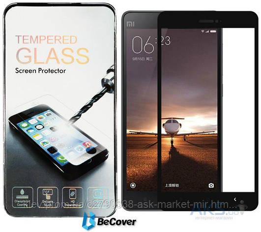 Защитное стекло Xiaomi Mi4c, Mi4i|BeCover|Черный|На весь экран, фото 2