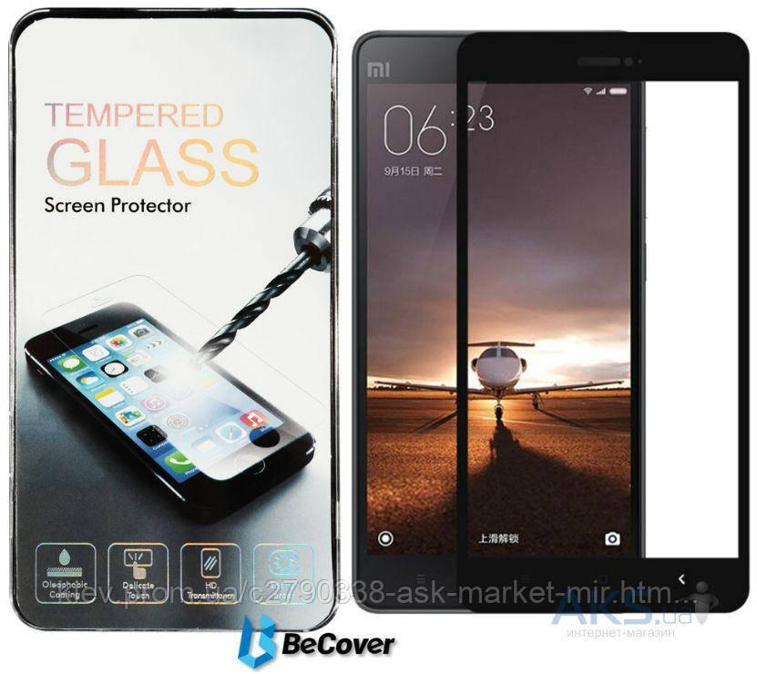 Защитное стекло Xiaomi Mi4c, Mi4i|BeCover|Черный|На весь экран