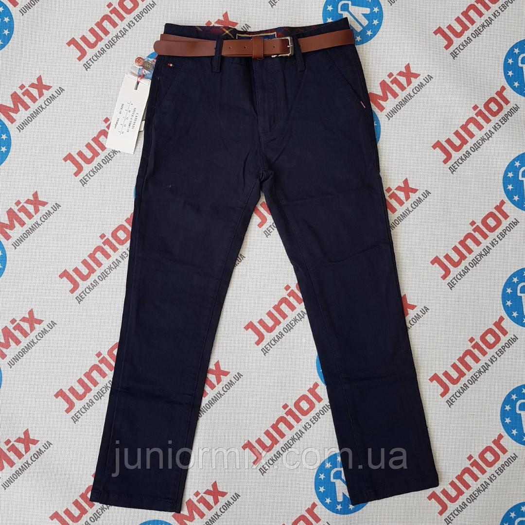 Котонові підліткові брюки синього кольору для хлопчика оптом Katenvin