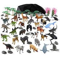 Игровой набор планета животных  Animal Planet Animal Kingdom Mega Pack Playset - 60 Pieces