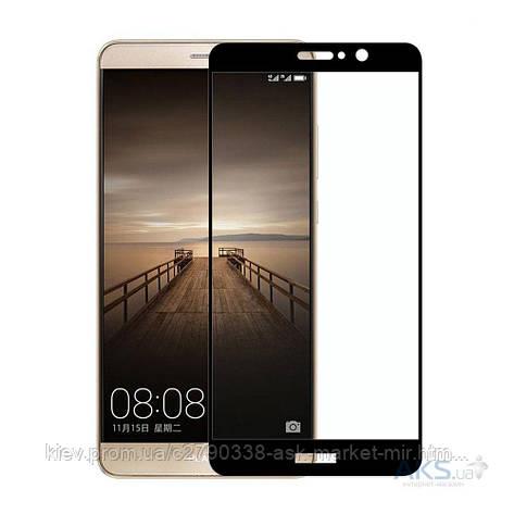 Защитное стекло Huawei Mate 9|Tempered Glass|Черный|На весь экран, фото 2