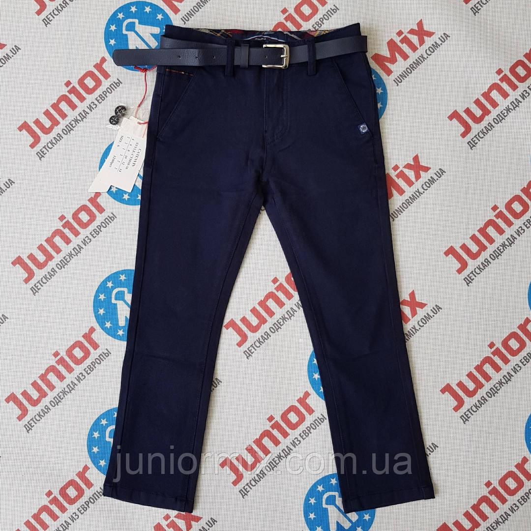 Синие котоновые детские брюки для мальчиков оптом KATENVIN