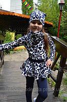 Костюм с баской для девочки Волна Леопардовый Принт