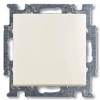 Выключатель 1 кл. (проходной) ABB Basic 55 Белый шале (chalet white)