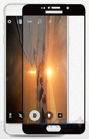 Защитное стекло Samsung J510 Galaxy J5 2016|Tempered Glass|Черный|На весь экран, фото 2