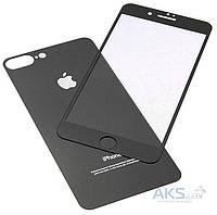 Защитное стекло Apple iPhone 7 Plus|Tempered Glass|Черный|(Экран + Задняя крышка)
