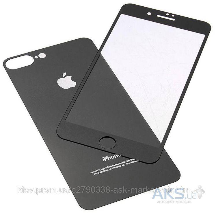 Защитное стекло Apple iPhone 7 Plus, 8 Plus|Tempered Glass|Черный|+Крышка