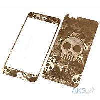 Защитное стекло Apple iPhone 5, iPhone 5S, iPhone SE|Tempered Glass|Золотой|(Экран + Задняя крышка)