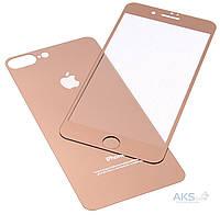 Защитное стекло Apple iPhone 7 Plus|Tempered Glass|Золотой|(Экран + Задняя крышка)