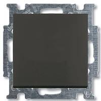 Выключатель 1 кл. (проходной) ABB Basic 55 Чёрный шато (chateau black)