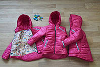 Демисезонная подростковая куртка для девочки Анжелика Малина