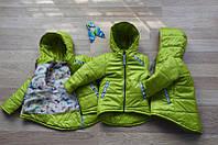 Демисезонная подростковая куртка для девочки Анжелика Фисташковый
