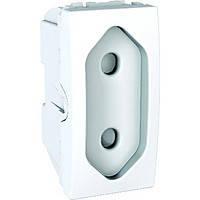 Розетка Плоская. 10А. С защитными шторками. Белая Unica Schneider Electric MGU3.031.18
