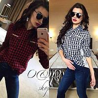 Рубашка женская с длинным рукавом, Ткань коттон и дорогой гипюр, 2 расцветки абой № 4019