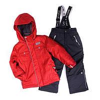 Зимний термокостюм для мальчика NANO 1-3, 5 лет (куртка и полукомбинезон), р. 80-98, 110 ТМ Nanö Red 251 M F16