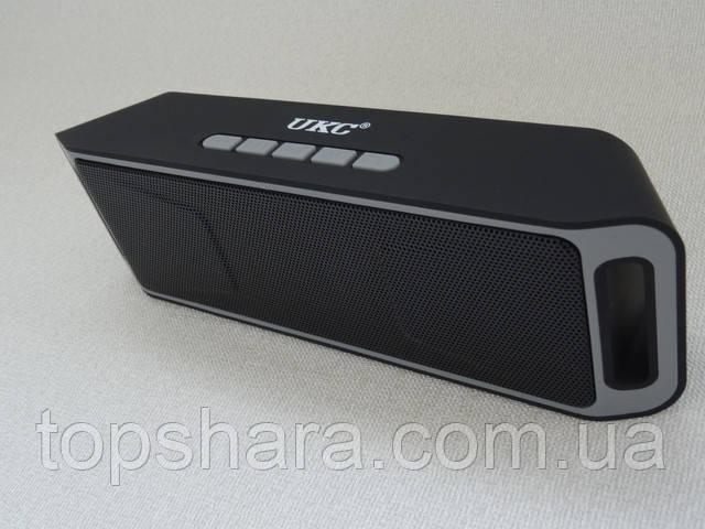 Колонка мобильная Bluetooth Stereo Megabass UKC SC-208 Черная/серая