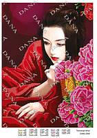 """Схема на ткани для вышивки бисером DANA """"Тайна гейши"""" 3340"""