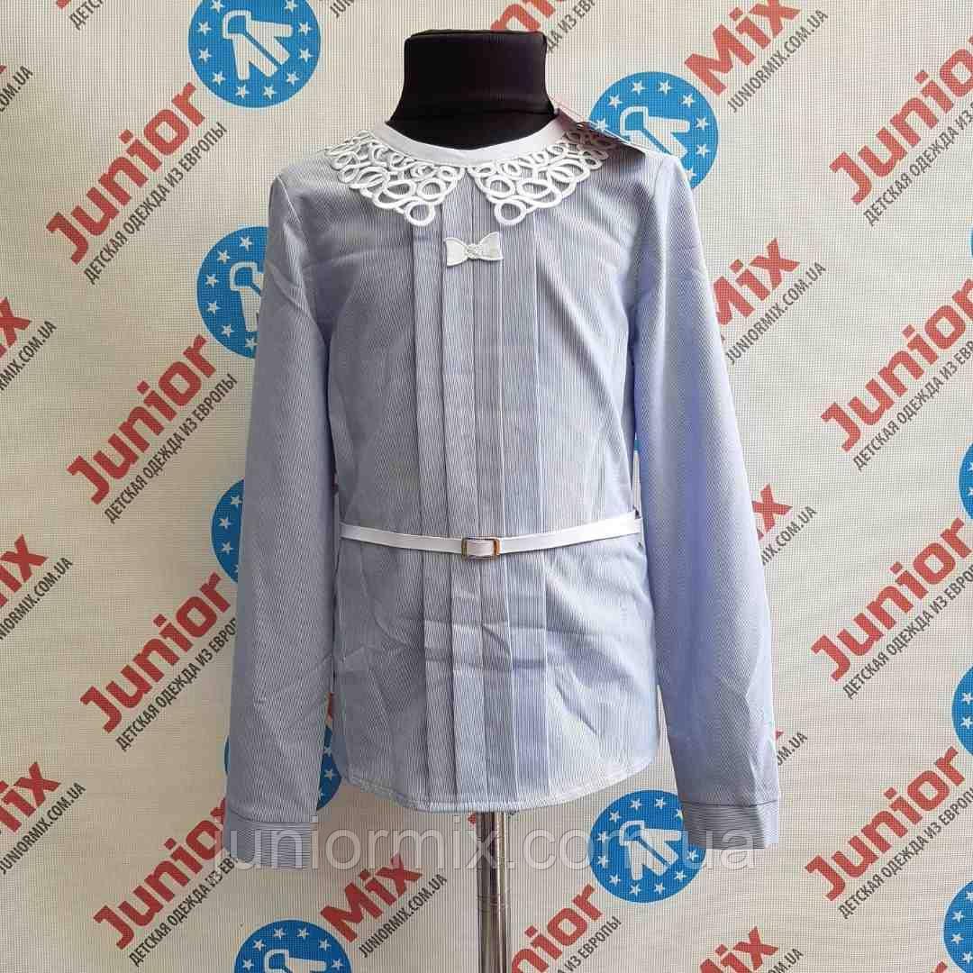 Детская блузка для девочек в мелкую полоску для девочек под пояс MARIATEX.ПОЛЬША