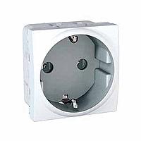 Розетка. С заземляющим контактом. 2 модуля. Белая Unica Schneider Electric MGU3.036.18