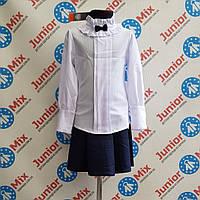 Детская нарядная  блузка белого цвета для девочек оптом UMBO