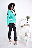 Пиджак модный женский с отложным воротником и карманами разные цвета 6Pb50