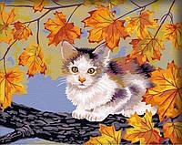 Картина по номерам Непослушный котенок КН021