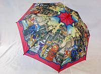 """Зонтики для мальчиков с """"Нинзяго"""" и """"Спайдерменом"""" №703 от Flagman"""