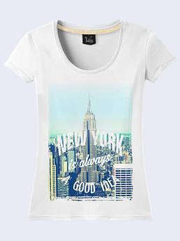 Женская футболка Нью Йорк