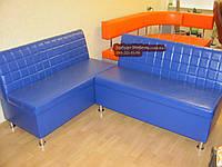 "Недорогие диваны для кафе ""Кубик"" синий 120х60х90см"