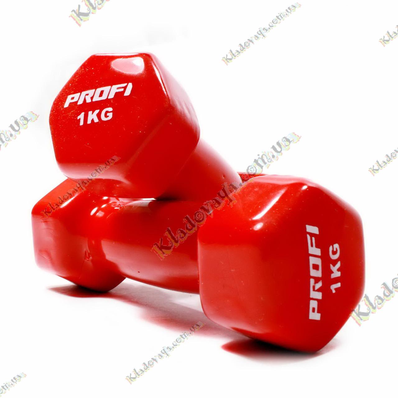 Гантели для фитнеса 2 шт. по 1 кг., фото 1