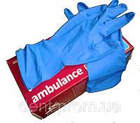 Перчатки медицинские латексные AMBULANCE PF