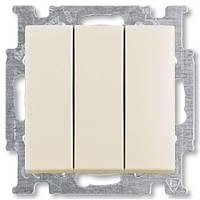 Выключатель 3 кл. ABB Basic 55 Слоновая кость