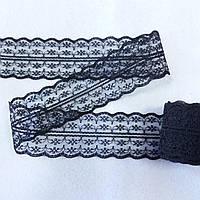 Кружево гипюровое черное 4,5 см