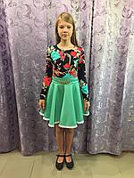 Платье для девочки с длинным рукавом 128,134,140 см, фото 1