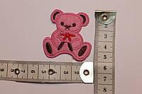 Термоаппликация (наклейка) Мишка (розовый)