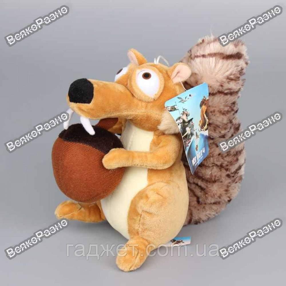 Мягкая игрушка Белка Скрат из Ледникового периода, 20 см