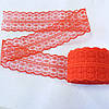 Кружево гипюровое красное 4,5 см