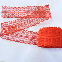 Кружево гипюровое красное 4,5 см, фото 1