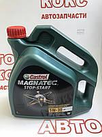 Синтетическое моторное масло Castrol Magnatec Stop-Start 5W30 4л, фото 1