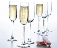 Набор бокалов для шампанского LUMINARC VERSAILLES 6 шт (160 мл) G1484, фото 1