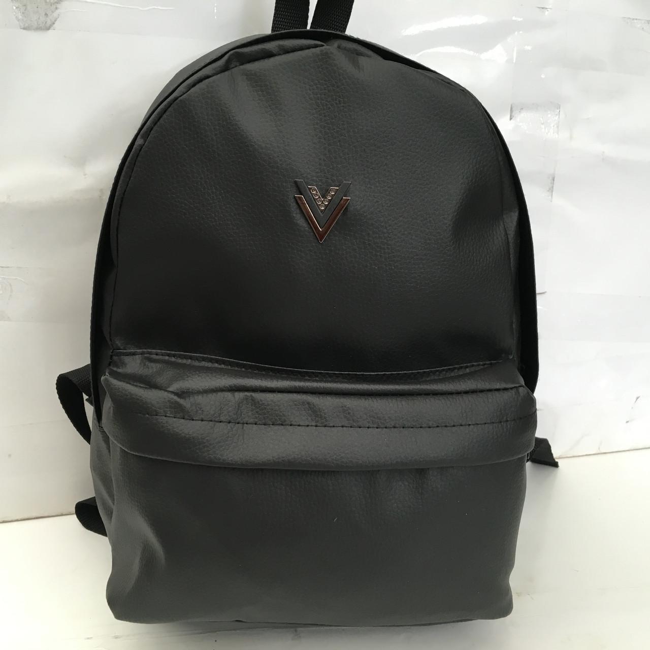 2510b51bfc88 Черный рюкзак, для девочки и для мальчика / городской рюкзак, модный, эко  кожа