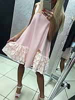 Платье Летнее Розовое до колена Свободное Италия