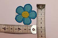 Термоаппликация (наклейка) Цветок (голубой)