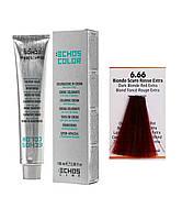 Краска для волос Echos Color 6/66 экстра темно-русый медный