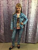 Джинсовая куртка для девочки подростка 158 см, фото 1