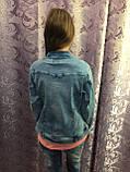 Джинсовая куртка для девочки подростка 158 см, фото 6