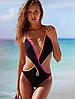 Купальник сдельный Victoria's Secret яркие полоски