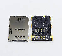 Слот (коннектор) сим карты для Samsung P1000, P3100, P6200, P7100, i5700, N8000, S5620 Original